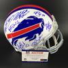 Bills - 2018 Multi Signed Helmet Over 17 Signatures Including Josh Allen, Kyle Williams, Tremane Edmunds, Steven Houshka, Jerry Hughes and Others