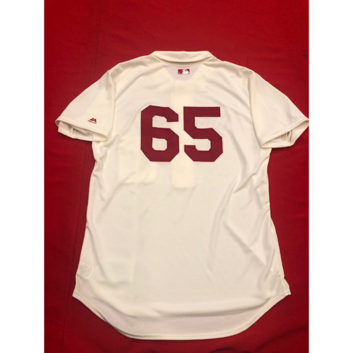 Caleb Cotham -- 1902 Throwback Jersey -- Game-Used -- SF vs. CIN on May 4, 2019