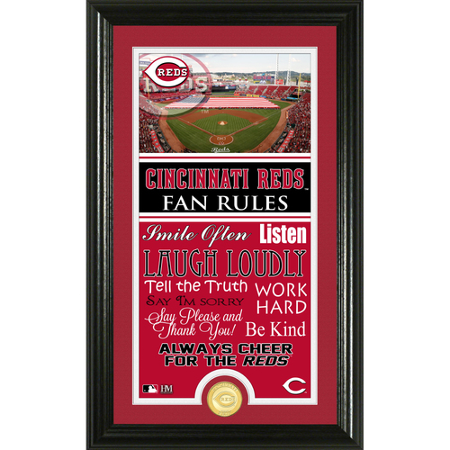 Photo of Cincinnati Reds Fan Rules Supreme Bronze Coin Photo Mint