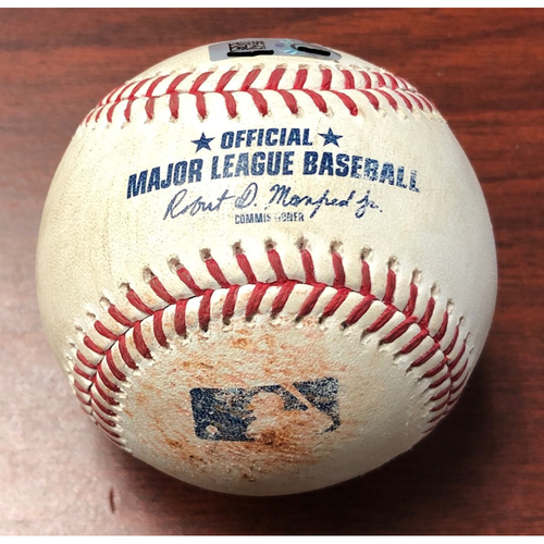 Game Used Baseball: Aaron Judge ground out off Brendan McKay - July 5, 2019 v NYY