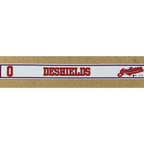 Photo of Delino DeShields 2020 Spring Training Game-Used Locker Name Plate