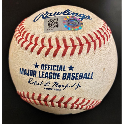 Photo of Game-Used Baseball:  Aristides Aquino Cincinnati Reds RBI Single (MLB AUTHENTICATED)