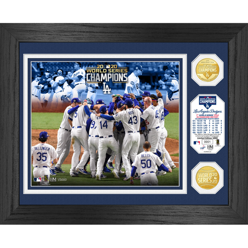 """Photo of Serial #1! Los Angeles Dodgers 2020 World Series Champions """"Celebration"""" Bronze Coin Photo Mint"""