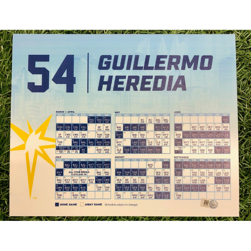 Photo of Rays Baseball Foundation: Game Used Opening Day Locker Tag: Guillermo Heredia - March 28, 2019 v HOU