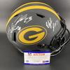 NFL - Packers Eclipse Helmet Signed by Aaron Rodgers, Aaron Jones, David Bakhtiari, Jaire Alexander, Elgton Jenkins, Za'Darius Smith and Devante Adams
