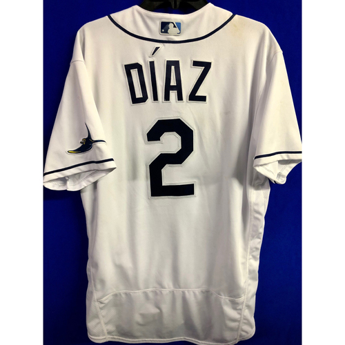 Photo of Game Used ALCS Game #7 Home White Jersey: Yandy Diaz - October 17, 2020 v HOU