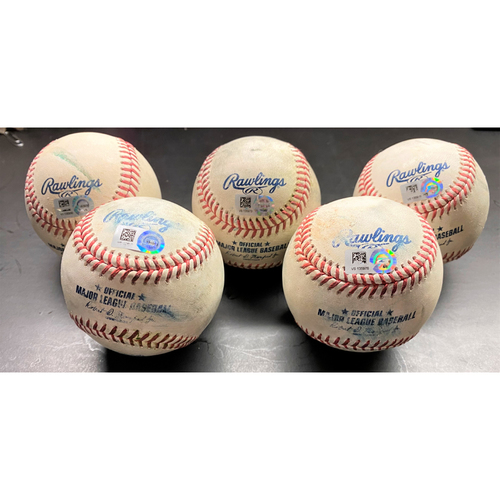 Photo of Detroit Tigers Game-Used Baseball Collection:  Singles (Willi Castro, Wilson Ramos), Double (Grayson Greiner), Triple (Niko Goodrum), and Stolen Base (Robbie Grossman) (MLB AUTHENTICATED)