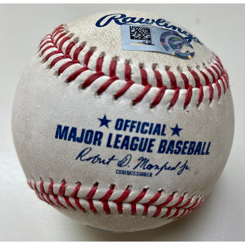 Photo of Game-Used Baseball:  Derek Hill Detroit Tigers Single (MLB AUTHENTICATED)