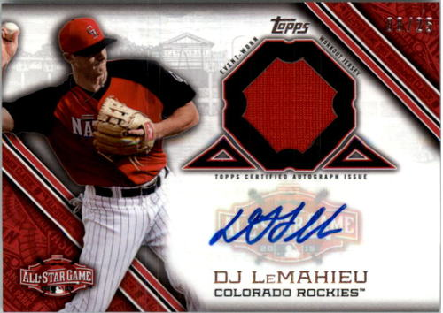 Photo of 2015 Topps Update All Star Stitches Autographs #ASTARDL DJ LeMahieu EXCH