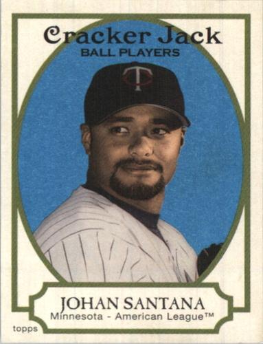 Photo of 2005 Topps Cracker Jack Mini Blue #85B Johan Santana Portrait