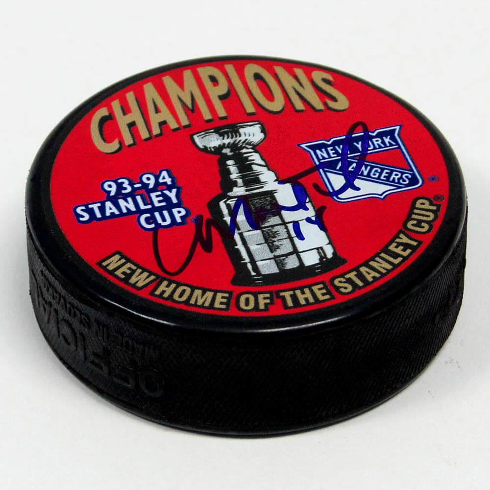 Craig MacTavish New York Rangers Autographed 1994 Stanley Cup Puck