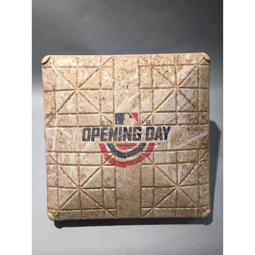 2018 Chicago White Sox Opening Day Base - 2nd Base used 1st-9th