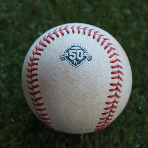 Photo of Game-Used Baseball: James McCann 352nd Career Hit (DET @ KC - 8/28/18)