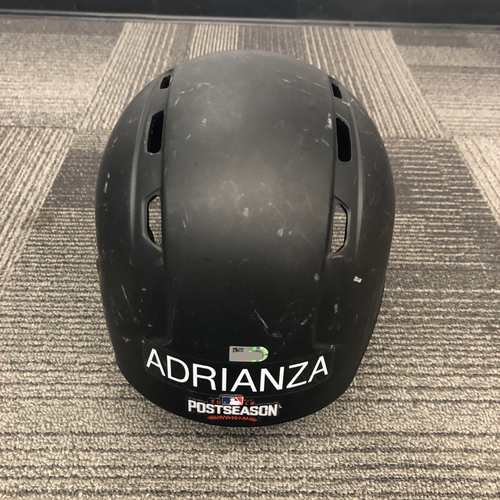 Photo of San Francisco Giants - 2016 Game Used  Wild Card and Regular Season Batting Helmet w/ Postseason Decal - #13 Ehire Adrianza - Right Handed Batter - Size 7 3/8
