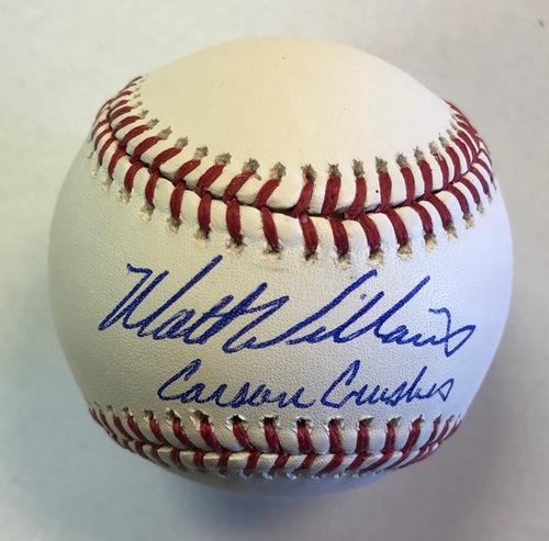 "Photo of Matt Williams Autographed ""Carson Crusher"" Baseball"