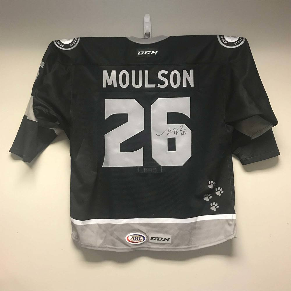 Ontario Reign Humane Society of San Bernadino Valley Jersey worn and signed by #26 Matt Moulson