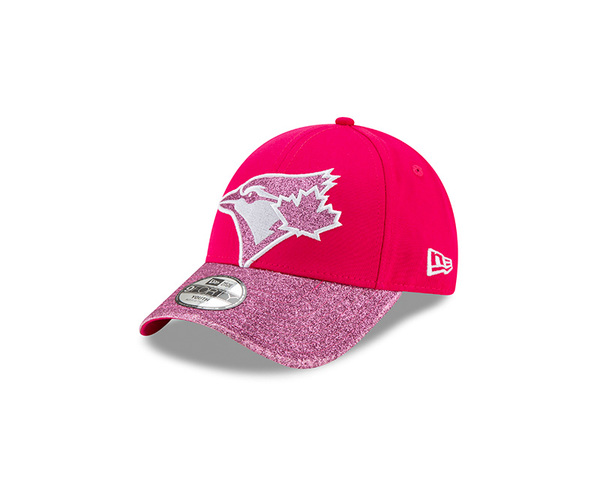 Toronto Blue Jays Child Shimmer Shine Pink Cap by New Era
