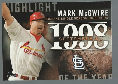 Photo of 2015 Topps Highlight of the Year #H25 Mark McGwire