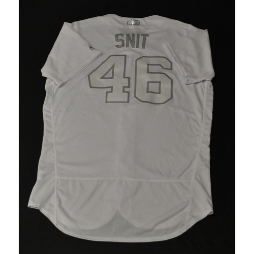"Photo of Troy ""SNIT"" Snitker Houston Astros Game-Used 2019 Players' Weekend Jersey"