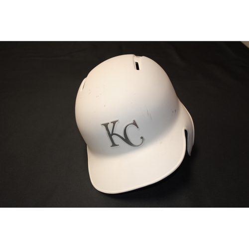 "Photo of Cheslor ""Island Boy"" Cuthbert Kansas City Royals Game-Used 2019 Players' Weekend Helmet"