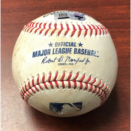 Photo of Game Used Baseball: Avisail Garcia strike out and Matt Duffy double off Chris Sale - July 23, 2019 v BOS