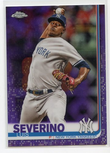 Photo of 2019 Topps Chrome Purple Refractors #98 Luis Severino