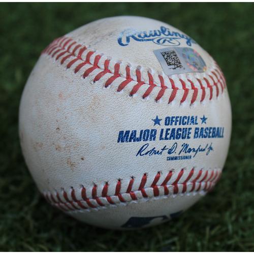 Photo of Game-Used Baseball: John Hicks 158th Career Hit (DET @ KC - 7/14/19)