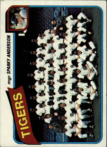 Photo of 1980 Topps #626 Detroit Tigers CL/Sparky Anderson MG