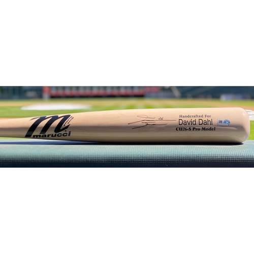 Photo of Colorado Rockies Autographed Bat: David Dahl