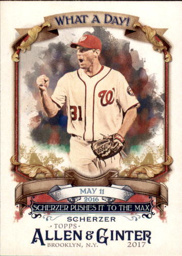Photo of 2017 Topps Allen and Ginter What a Day #WAD68 Max Scherzer