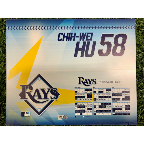 Photo of Rays Baseball Foundation: Game Used Locker Tag: Chih-Wei Hu - September 27, 2018 v NYY