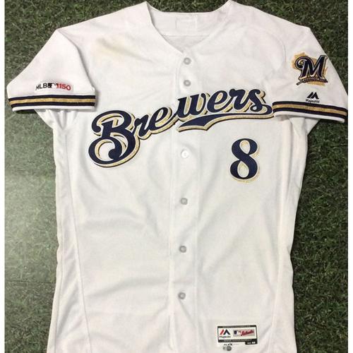 Photo of Ryan Braun 03/28/19 Game-Used Opening Day Jersey