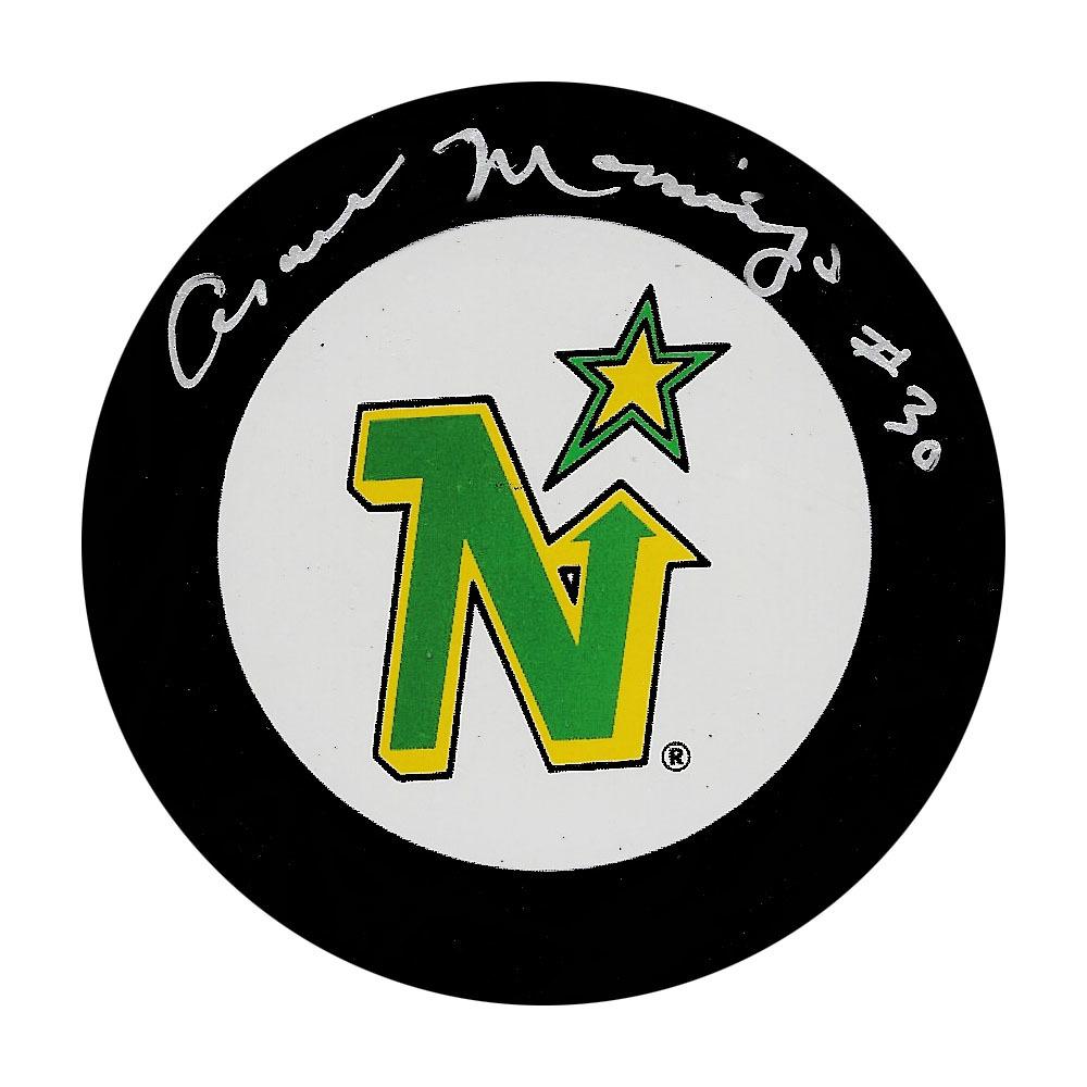 Cesare Maniago Autographed Minnesota North Stars Puck
