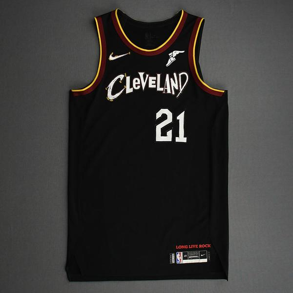 Image of Damyean Dotson - Cleveland Cavaliers - Game-Worn City Edition Jersey - 2020-21 NBA Season