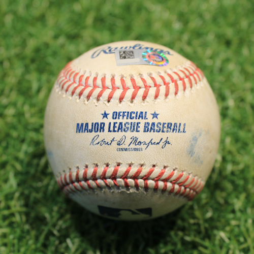 Photo of Game-Used Baseball: Cesar Hernandez 138th Career Double (CLE@KC 5/6/21)