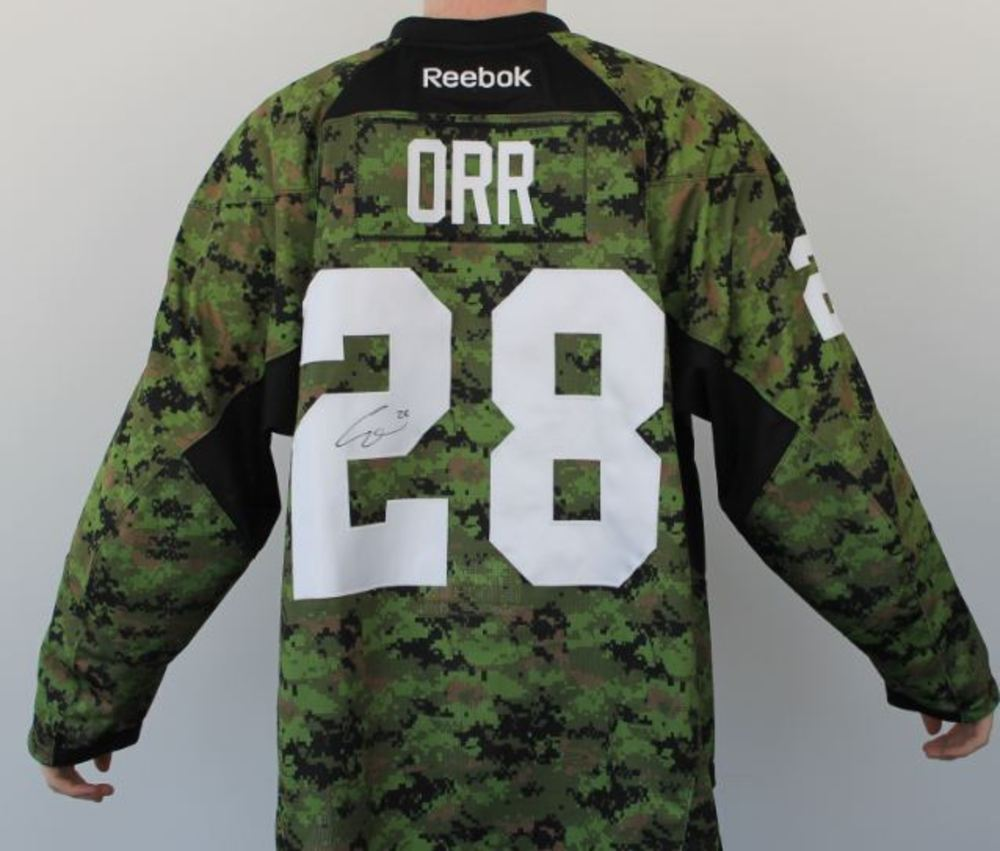 Autographed and warm up worn Colton Orr Forces Jersey - NHL Auctions b2eb6884f86