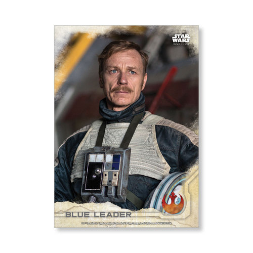 Blue Leader 2016 Star Wars Rogue One Series One Base Poster - # to 99