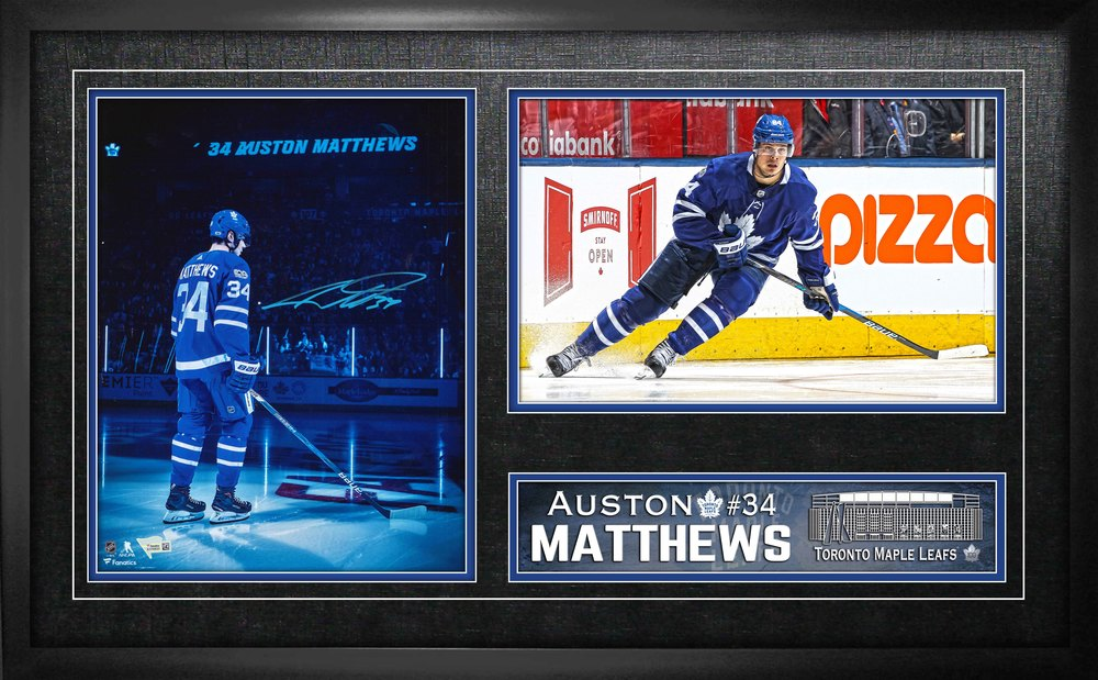 Auston Matthews - Signed 11x14 Double Photo Maple Leafs Spotlight