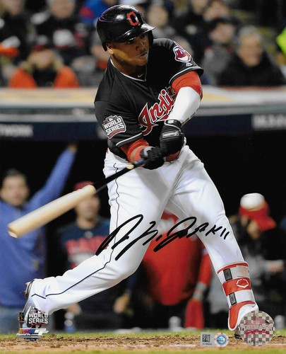 Photo of Jose Ramirez Autographed 8x10 Photo (Batting)