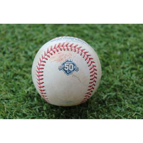 Photo of Game-Used Baseball: Javier Baez 426th Career Hit (CHC @ KC - 8/7/18)