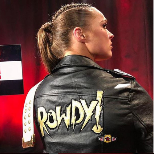 Photo of Ronda Rousey WORN & SIGNED Leather Jacket (Connor's Cure: RAW - 09/17/18)