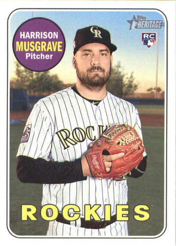 Photo of 2018 Topps Heritage #594 Harrison Musgrave RC