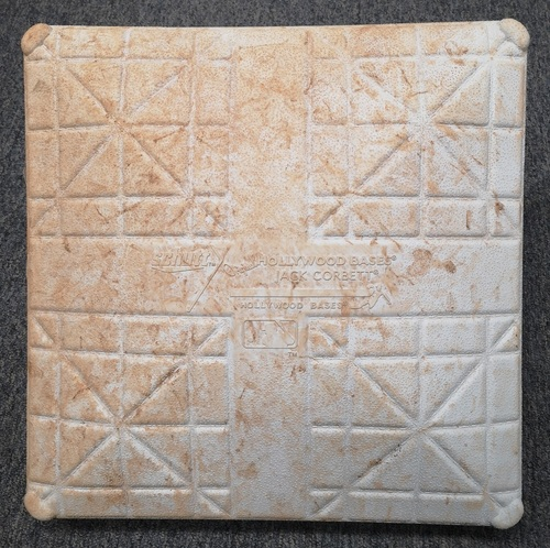 Photo of Authenticated Game Used Base - 1st Base for Innings 6 to 9 (March 25 and 26, 2019) in Montreal vs Brewers