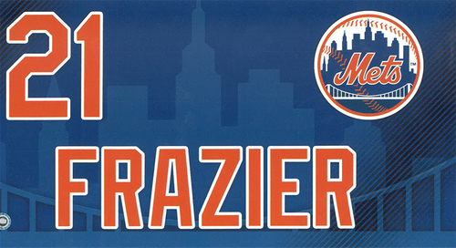 Photo of Todd Frazier #21 - Game Used Locker Nameplate - Mets vs. Braves - 9/29/19