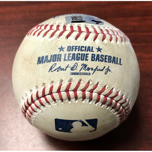 Photo of Game Used Baseball: Andrew Kittredge strikes out Bo Bichette on Ball in Dirt - August 6, 2019 v TOR