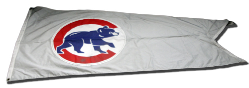 Photo of 12 Days of Auctions: Day 2 -- Wrigley Field Collection -- Rooftop Flag -- Cubs Logo