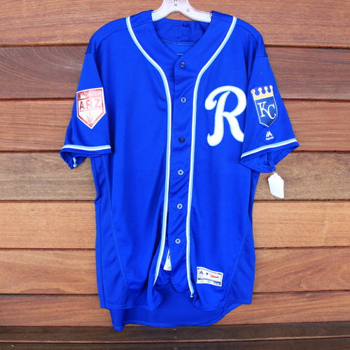 Photo of Game-Used Spring Training Jersey: Jorge Bonifacio (Size 50 - COL @ KC - 2/25/19)