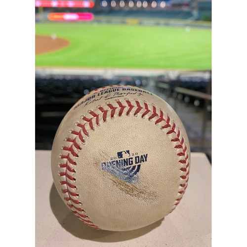 Freddie Freeman Game Used Home Run Baseball - July 29, 2020 - Opening Day at Truist Park, First 2020 Home Run at Truist Park!