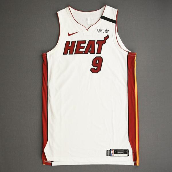 Image of Kelly Olynyk - Miami Heat - Game-Worn Association Edition Jersey - Scored 20 Points - 2019-20 NBA Season Restart with Social Justice Message