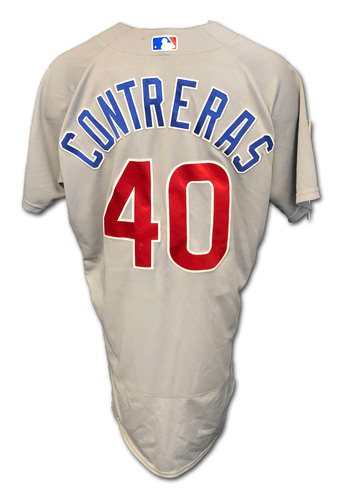 Photo of Willson Contreras Team-Issued Jersey -- 2020 Season -- Size 46TC + 2B